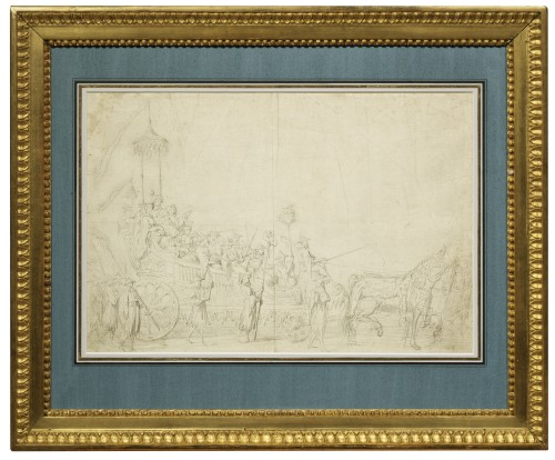 Study for « The Chinese Masquerade » - Jean-Baptiste Pierre (1714 - 1789) - Paintings & Drawings Style Louis XV