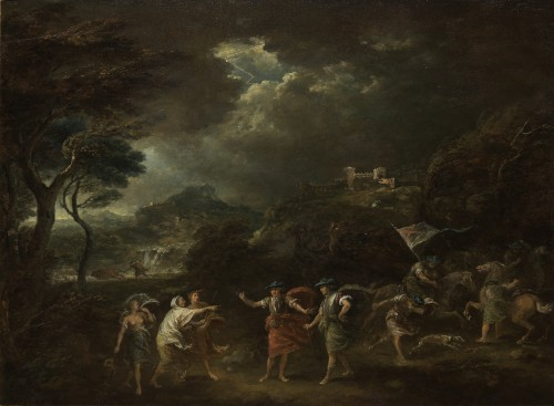Macbeth and the three witches - Francesco Zuccarelli (1702 - 1788)