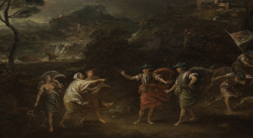 Paintings & Drawings  - Macbeth and the three witches - Francesco Zuccarelli (1702 - 1788)
