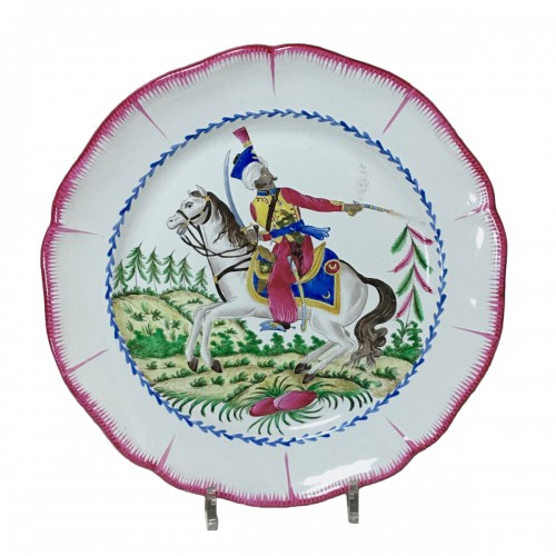 Les Islettes Earthenware dish - Mameluk of the Imperial Guard