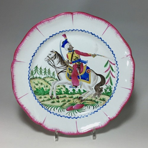 Les Islettes Earthenware dish - Mameluk of the Imperial Guard  - Porcelain & Faience Style