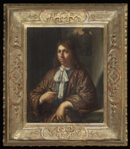 Attributed to Gonzales Coques - Portrait of a gentleman with a watch  - Paintings & Drawings Style