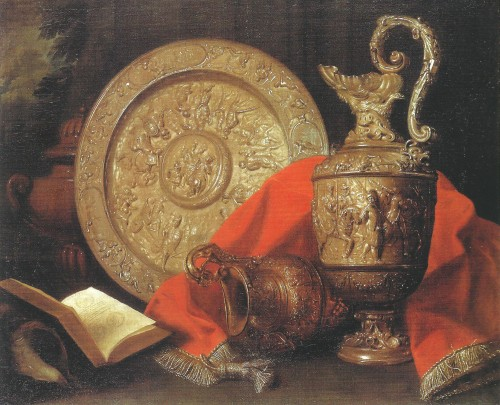 Meiffren Conte (1630-1705) - A still life with silverware