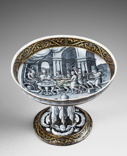 Objects of Vertu  - A painted enamel tazza - The Feast of Dido