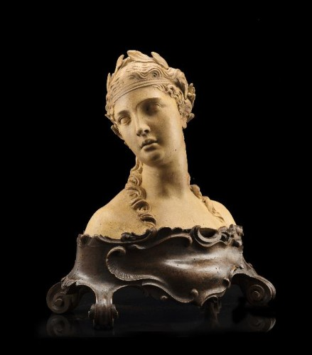 Giovanni Marchiori (1696-1778) - A terracotta bust of Flora - Sculpture Style