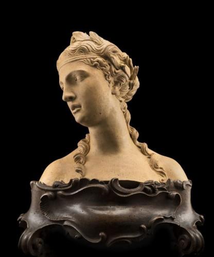 Giovanni Marchiori (1696-1778) - A terracotta bust of Flora -