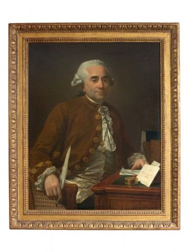 Portrait of a gentleman at his desk - Michel Garnier (1753-1829)