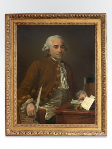 Portrait of a gentleman at his desk - Michel Garnier (1753-1829) - Paintings & Drawings Style Louis XVI