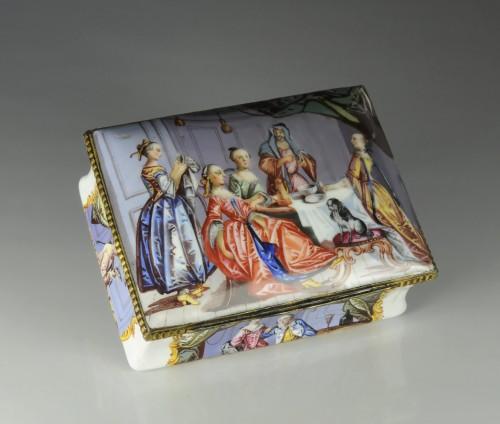 A gilt-metal mounted Battersea enamel snuff-box  - Objects of Vertu Style