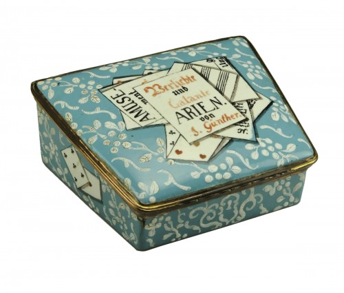 A gilt-metal mounted Berlin enamel snuff-box
