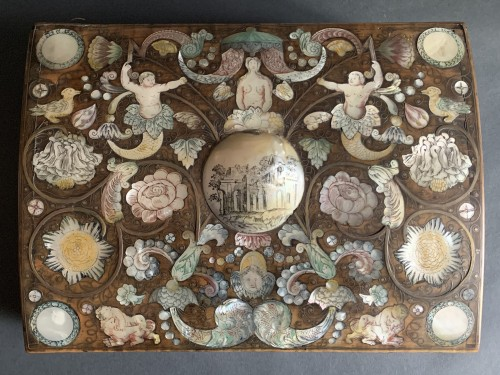 A Spa marquetry wig box - Objects of Vertu Style Louis XIV
