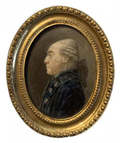 A portrait miniature of Comte d'Angiviller - Joseph Vallière (actif 1773-1792)