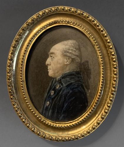 A portrait miniature of Comte d'Angiviller - Joseph Vallière (actif 1773-1792) - Objects of Vertu Style Louis XVI