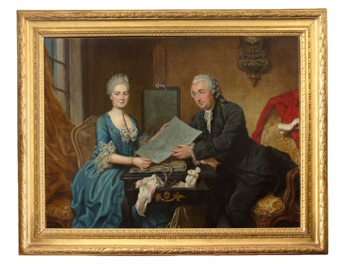 Donatien Nonnotte (1708-1785) - Portrait of Léonard and Antoinette Bourlier D'ailly