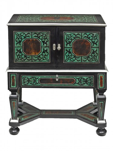 A rare small cabinet on stand- Probably Antwerp, 17th century
