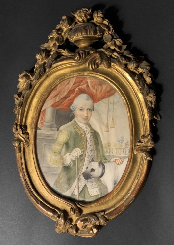A portrait of a gentleman, d'Anthès family, Alsace, circa 1760 - Paintings & Drawings Style