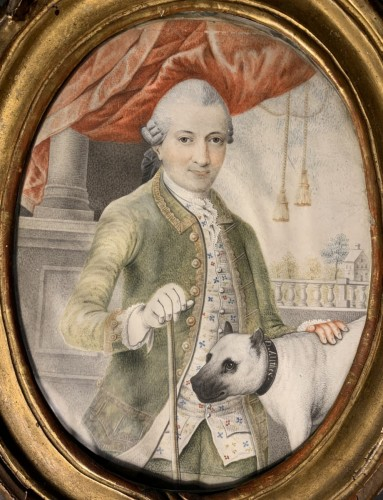Paintings & Drawings  - A portrait of a gentleman, d'Anthès family, Alsace, circa 1760