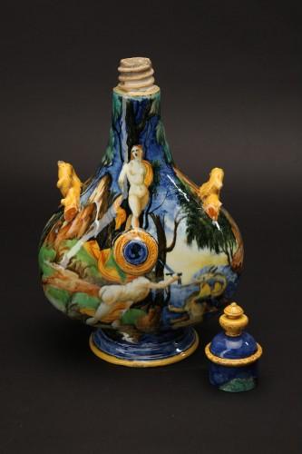 Porcelain & Faience  - A maiolica pilgrim flask-Urbino, Xanto Avelli workshop, circa 1540-1550