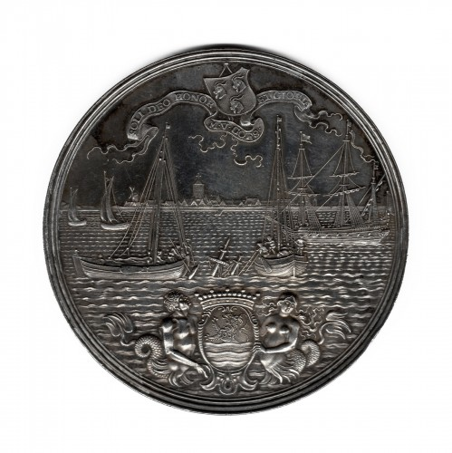 Medal commemorating the recovery of the sunken treasure ship by Treileben