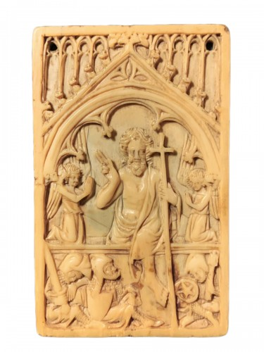 A Gothic ivory writing tablet – The Resurrection of Christ - circa 1350