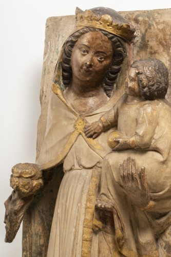 Virgin and Child - Jaume Cascalls - Catalonia, mid-14th century - Sculpture Style Middle age