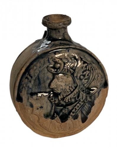 Stoneware flask - Saint-Vérain, Puisaye 16th century