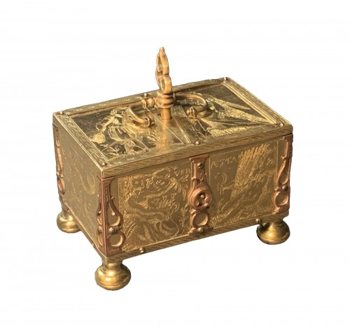 A Michel Mann Gilt-Brass Box, circa 1600