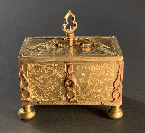 A Michel Mann Gilt-Brass Box, circa 1600 - Objects of Vertu Style