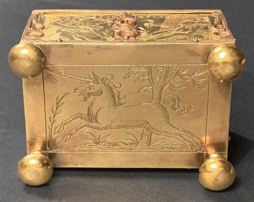 Objects of Vertu  - A Michel Mann Gilt-Brass Box, circa 1600