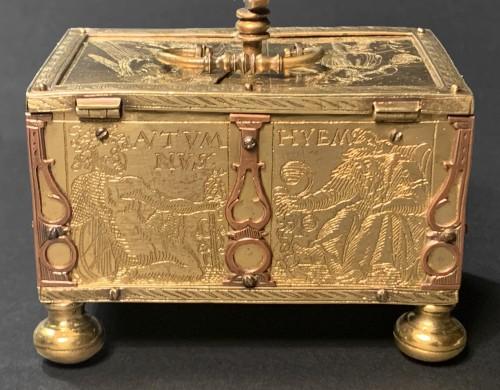 A Michel Mann Gilt-Brass Box, circa 1600 -