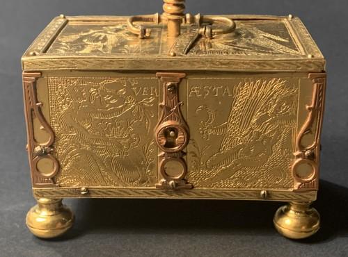 - A Michel Mann Gilt-Brass Box, circa 1600