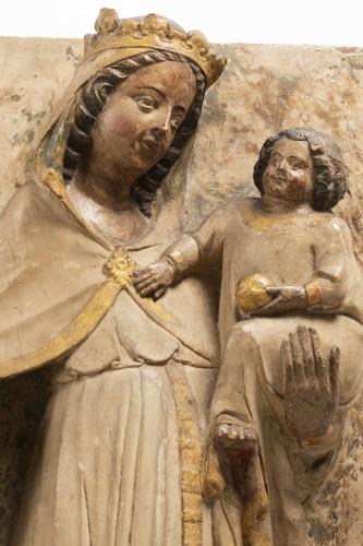 Sculpture  - Virgin and Child - Jaume Cascalls - Catalonia, mid-14th century