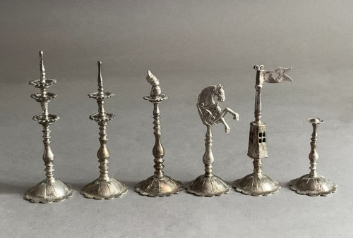 """A silver and silver-gilt """"Selenus"""" chess set - Königsberg 1781 - Antique Silver Style"""