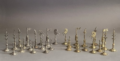 "A silver and silver-gilt ""Selenus"" chess set - Königsberg 1781 -"
