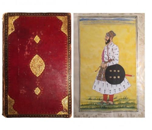 A rare album of 40 Indian miniatures