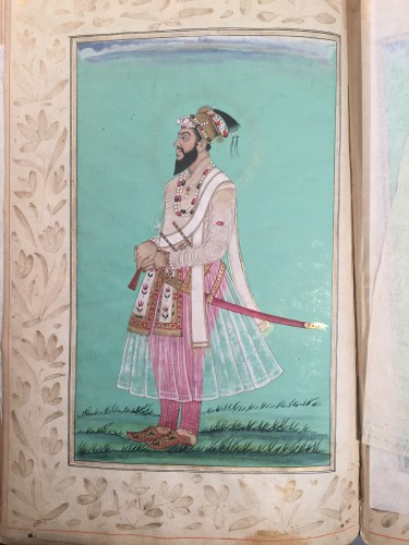 A rare album of 40 Indian miniatures - Engravings & Prints Style