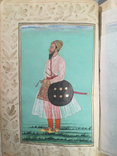 Engravings & Prints  - A rare album of 40 Indian miniatures