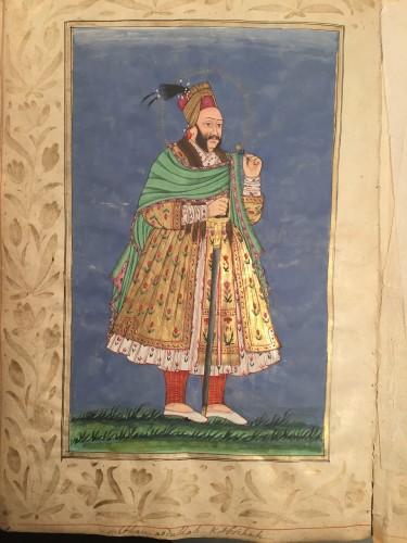 - A rare album of 40 Indian miniatures