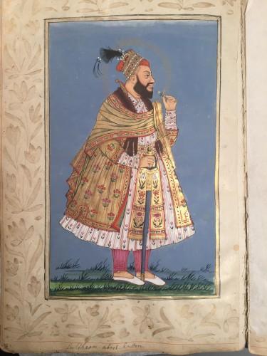 Antiquités - A rare album of 40 Indian miniatures
