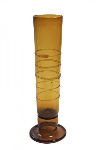 """A rare amber glass """"passglas"""""""
