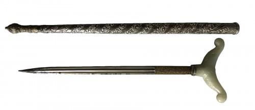 A Dagger (Zafar Takieh) with Sheath and Jade handle