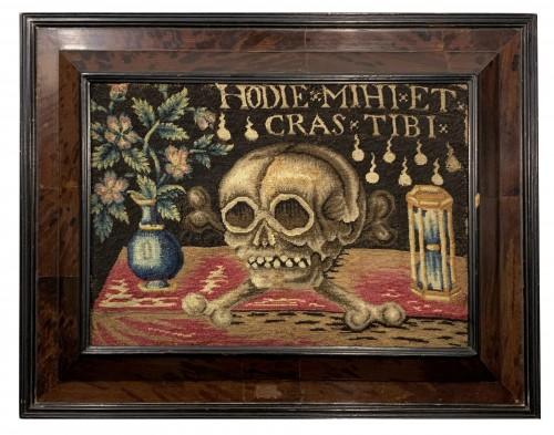 A needlework Memento Mori - 17th century