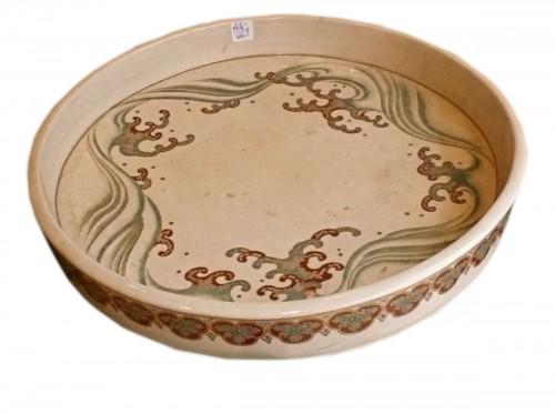 Large satsuma cup for ikebana