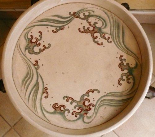 Asian Art & Antiques  - Large satsuma cup for ikebana
