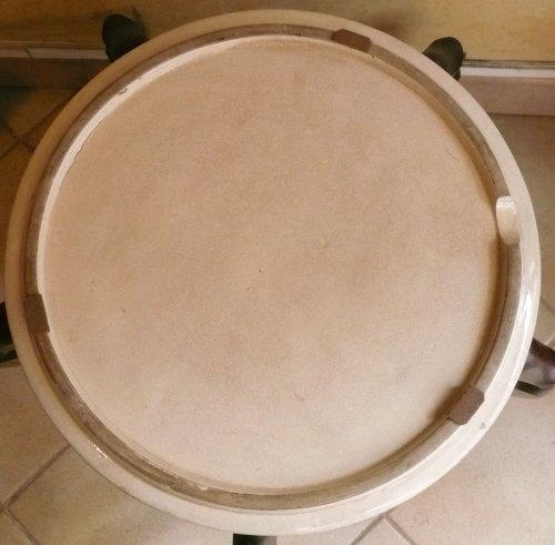 Large satsuma cup for ikebana -