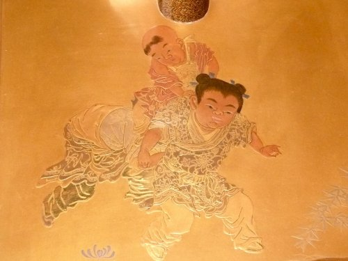 A Gold Lacquer katana holder or Tachi Kake -