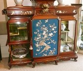 Rare and exceptional cabinet of Gabriel Viardot workshops