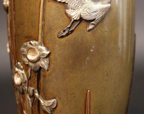 Antiquités - Pair of japanese bronze vases signed miyabe atsuyoshi