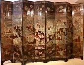 A chinese 8-panel coromandel screen