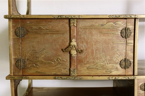 A Japanese Gold Lacquered Shodana - Asian Art & Antiques Style